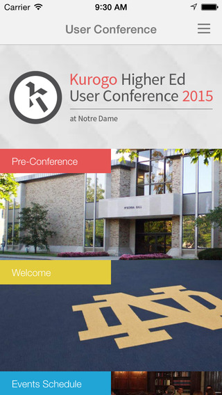 Kurogo HigherEd User Conference 2015