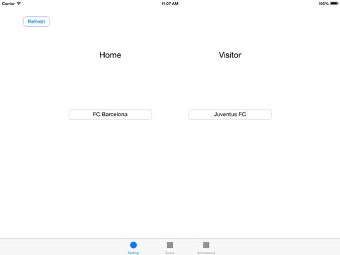Soccer Scoreboard for iPad