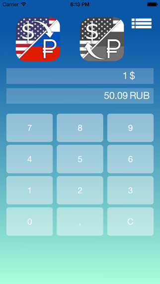 Ruble Dollar converter