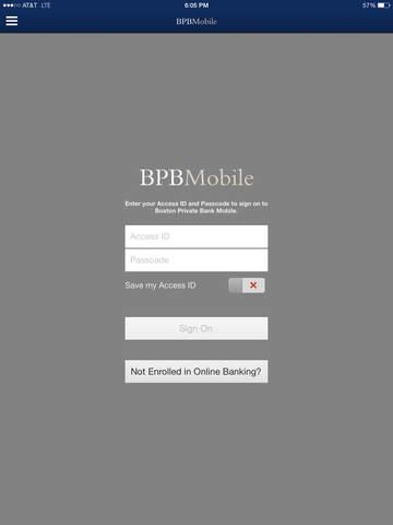 Boston Private Bank iPad Version