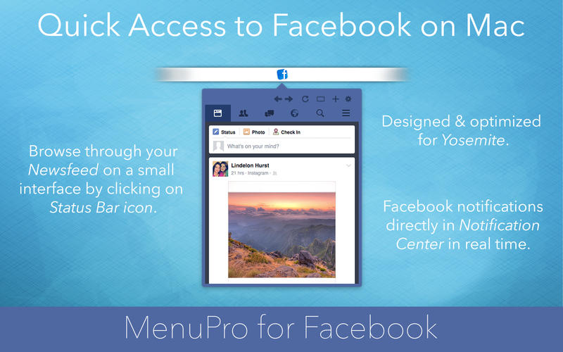 MenuPro for Facebook Screenshot - 1