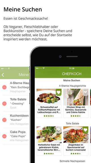 Chefkoch - Rezepte, Backen, Kochen, Einkaufsliste und Kochbuch Screenshots