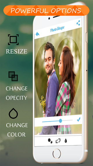PicShape - Shape your photos using lots of predefined style and share pics
