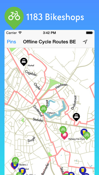 Offline Cycle Routes Belgium - National Maps of the Belgian Cycling Path Network for Bike Rides all