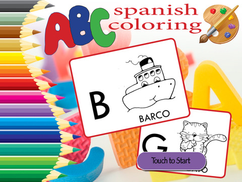 ABC Coloring Learning - Alphabet in Spanish