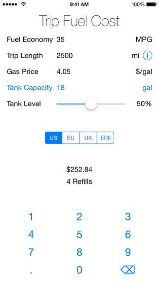 Trip Fuel Cost