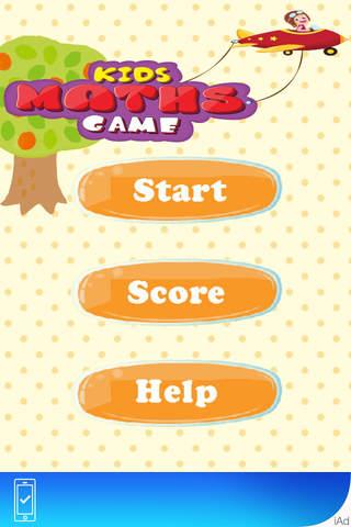 Kids Maths Game (Add, Subtract, Greatest, Smallest ...) screenshot 1