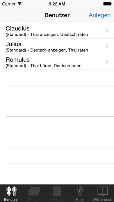 ClickThai Vokabel-Trainer DE iPhone Screenshot 1