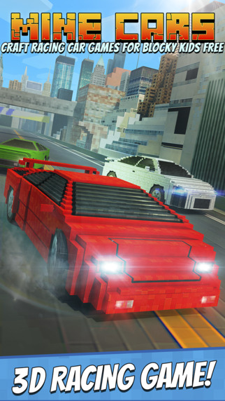 Mine Cars - Craft Racing Car Games for Blocky Kids Free