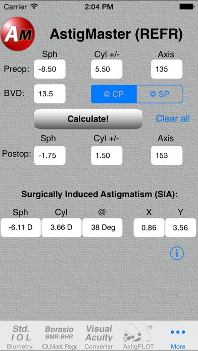 AstigMaster iPhone Screenshot 1