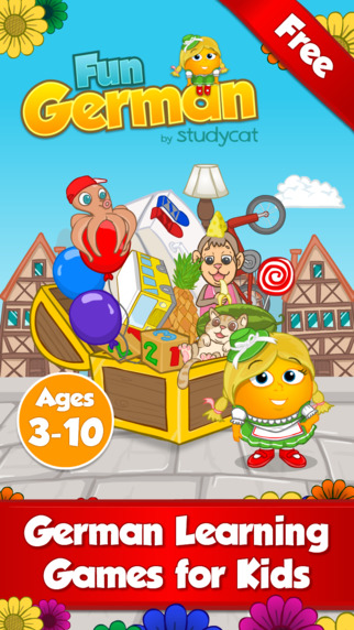Fun German: Language learning games for kids ages 3-10 to learn to read speak spell