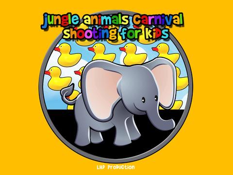 jungle animals carnival shooting for kids iPad Screenshot 1