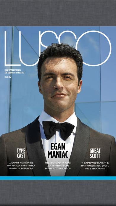 Lusso Magazine iPhone Screenshot 1
