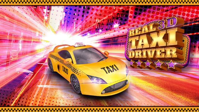 Real Taxi Driver 3D: Crazy Cab City Rush - Free Car Racing Games