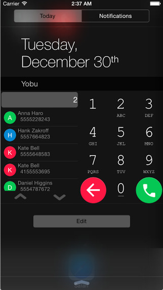 YoBu - 在通知中心直接拨打电话[iPhone]丨反斗限免