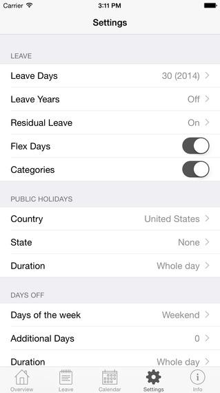 Annual Leave iPhone Screenshot 5