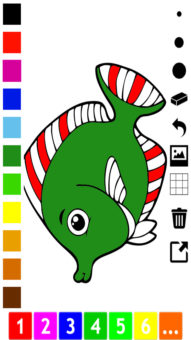 A Fish Coloring Book for Toddlers: Color Animals Under Water