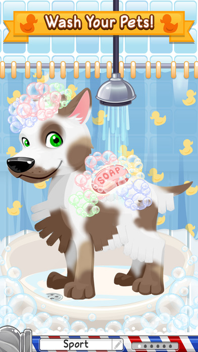 Sunnyville pet salon dog game play free fun pets hair for A family pet salon
