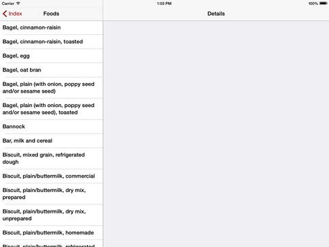 Nutrients Canada iPad Screenshot 3