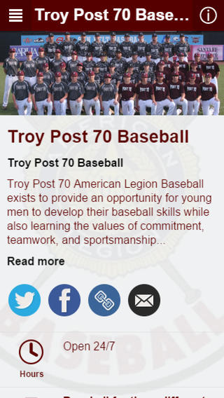 Troy Post 70 Baseball