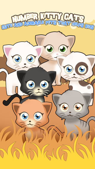 Number Kitty Cats : Cute and Adorable pets that helps kids.
