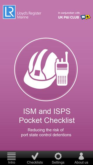 ISM ISPS Pocket Checklist