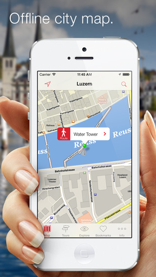 City Guide Luzern – Offline map with numerous tips on sights hotels restaurants and events