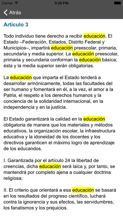 Leyes Fiscales iPhone Screenshot 4