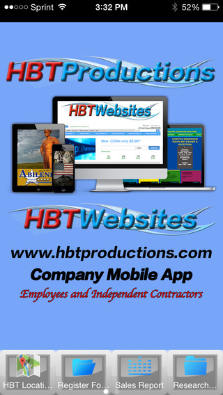 HBT Productions Company App