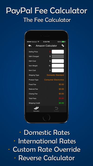 eBay, eBid, Amazon, Half.com & PayPal Auction Calculator iPhone Screenshot 5