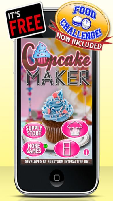 Cupcake Maker - Free iPhone Screenshot 1