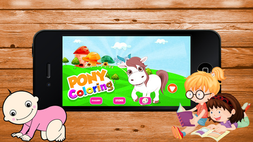 Pony Coloring - Learn Free Amazing HD Paint Educational Activities for Toddlers Pre School Kindergar