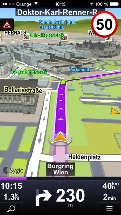 Sygic Aura Drive Italy GPS Navigation iPhone Screenshot 1