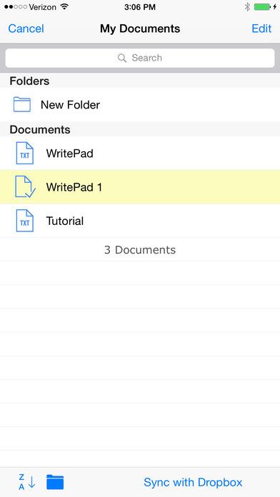 WritePad iPhone Screenshot 5