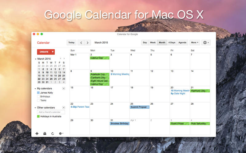 Calendar for Google Screenshot - 1