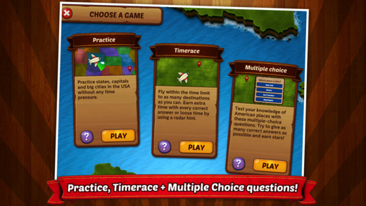 GeoFlight USA - Fun geography quiz game to learn states, cities and capitals of the United States Screenshots