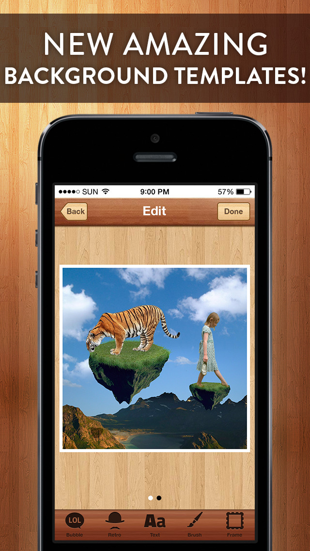 Screenshots of Cut Me In - Easy to use Photo Chop Background Adjuster to Superimpose yr images by Applause - not affiliated with Photoshop in any way! for iPhone