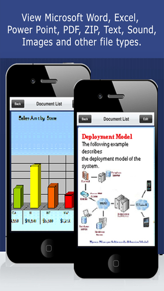 Document Manager Download View Share Files and Attachments