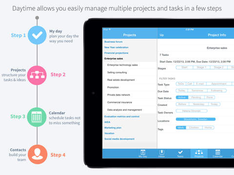 Daytime – task project business manager personal planner and contacts organizer