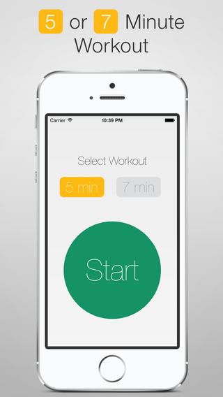 《健康健美 五分钟锻炼:5 Minute Workout - 5 or 7 Minute Interval Training [iPhone]》
