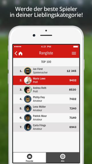 kicker FußballQuiz Screenshots