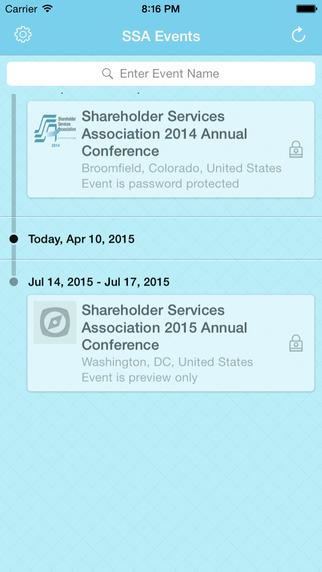 Shareholder Services Association's Conference App