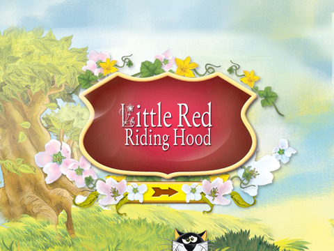Red Little Riding Hood Interactive Fairy Tale iPad Screenshot 1