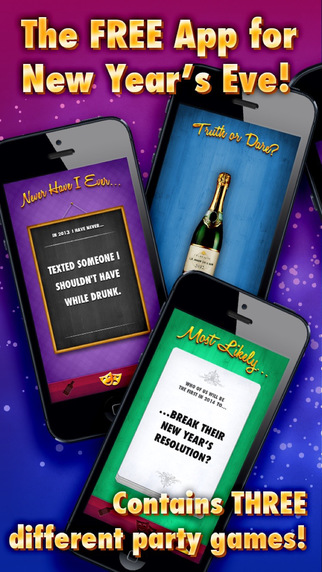 New Year's App - three crazy party games for New Year's Eve 2014 - 2015