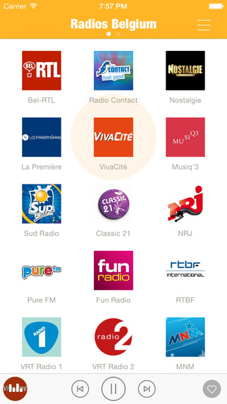 Radios Belgium FM Belgium Radios FM Belgique Radios - Include VRT Radio NRJ Belgique La Première Stu