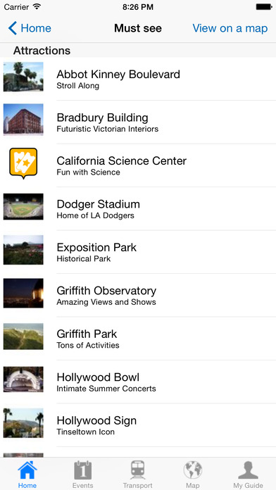 Los Angeles Travel Guide Offline iPhone Screenshot 4