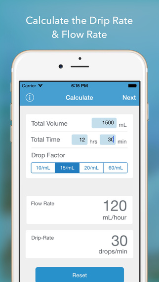 Drops - Your IV Drip Rate Companion
