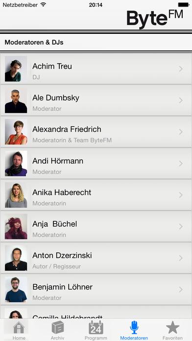ByteFM iPhone Screenshot 3