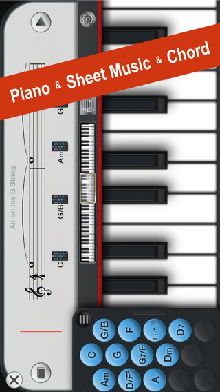Piano+ - Playable with Chord Sheet Music 18 Music Instruments