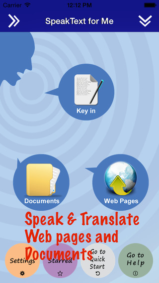 SpeakText for eBook FREE - Speak Translate eBook Documents and Web pages